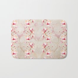 Trailing Pink Magnolias Bath Mat