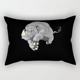 Kids Rhinoceros Pachyderm Rhinoceros Outfit Rectangular Pillow