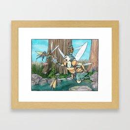 Fairy Fight Framed Art Print