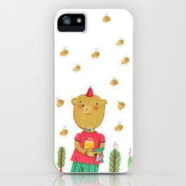 Honey Bear, Busy Bees iPhone Case