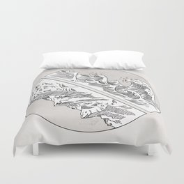 Mountains // Waves Duvet Cover
