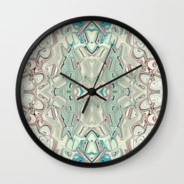 Turquoise And Copper Blend Wall Clock