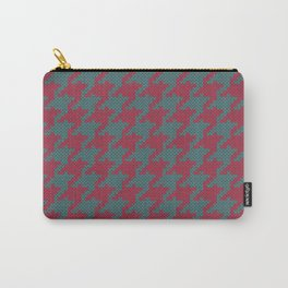 Faux knit retro houndstooth  Carry-All Pouch