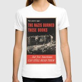 Vintage poster - Burned Books T-shirt