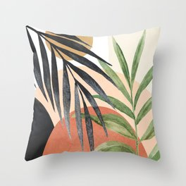 Abstract Tropical Art VI Throw Pillow