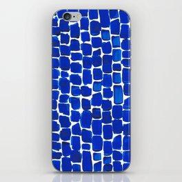 Brick Stroke Blue iPhone Skin