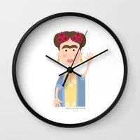 mexican Wall Clocks featuring Mexican Wave by Lisa Jayne Murray - Illustration