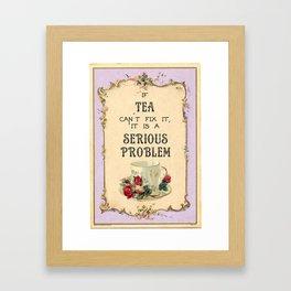 Fixing Tea Framed Art Print