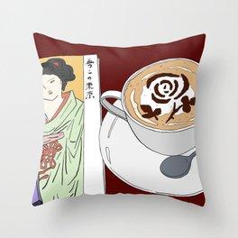 Tokyo Yumeji Cafe Throw Pillow