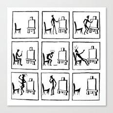 A stickman gets creative Canvas Print