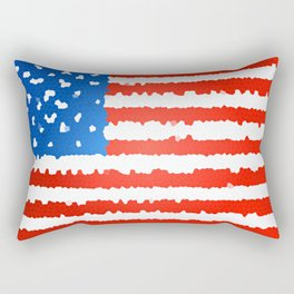 United states flag stylized as stained glass Rectangular Pillow