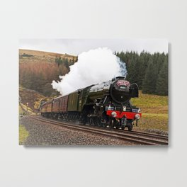 Flying Scotsman at Blea Moor Metal Print
