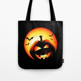 Smile Of Scary Pumpkin Tote Bag