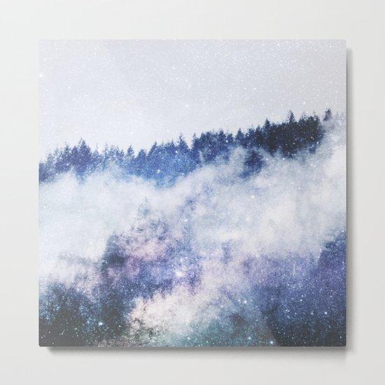 Galaxy Forest Metal Print