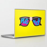 nerd Laptop & iPad Skins featuring Nerd by Aaron Synaptyx Fimister