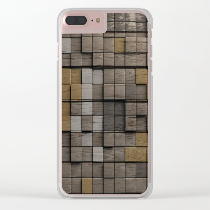 Wood pattern Clear iPhone Case