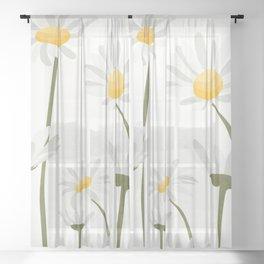 Summer Flowers III Sheer Curtain