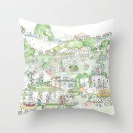 Suburban Farming Throw Pillow