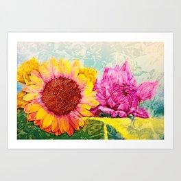 Girlfriends of Summer Art Print