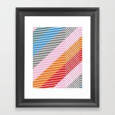 Diagonals Framed Art Print