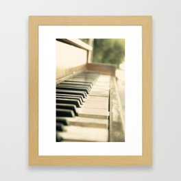 Tickling The Ivories Framed Art Print