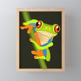 Tree Frog Framed Mini Art Print