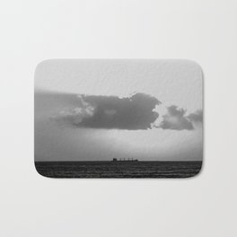 Evening clouds over the sea Bath Mat