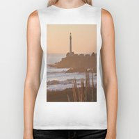 lighthouse Biker Tanks featuring Lighthouse by Kim Ramage