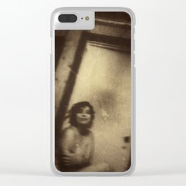 Katie, Vintage Clear iPhone Case