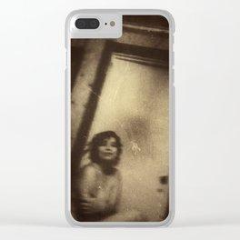 Katie, Vintage Clear iPhone Case