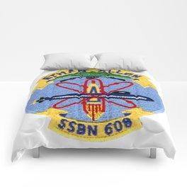 USS ETHAN ALLEN (SSBN-608) PATCH Comforters