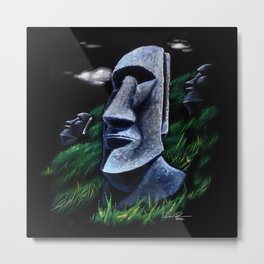 Easter Island Heads Metal Print