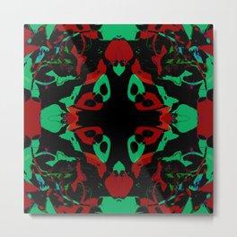 Red and Black Retro Metal Print