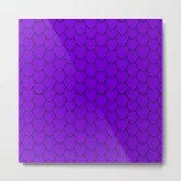 Dragon Scales in Purple Metal Print