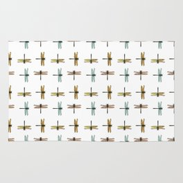 Mystical Dragonfly Graphic Pattern Rug