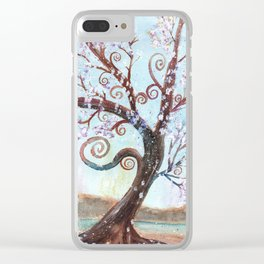 Watercolor Enchanted Tree Clear iPhone Case