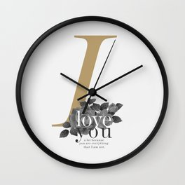 You Complete Me - LOVE #society6 #love #buyart Wall Clock
