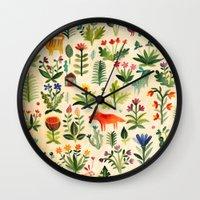 Wall Clocks featuring Garden by AITCH