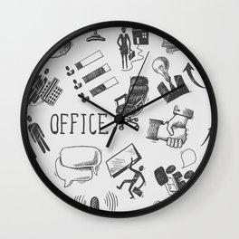 Office pattern Wall Clock