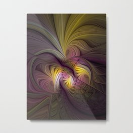 Unity, Abstract Colorful Fractal Art Metal Print