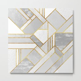 Gold City Metal Print