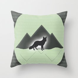 The Story of the Fox Throw Pillow