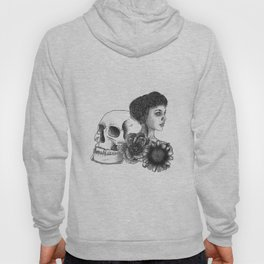 The Girl With A Skull And Flowers Hoody