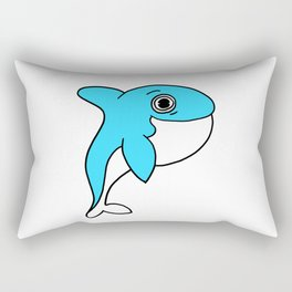Lovely and funny whale drawing Rectangular Pillow