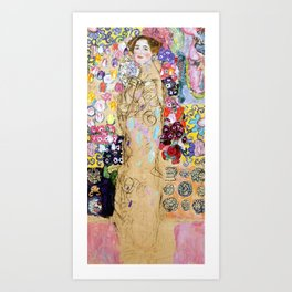 "Gustav Klimt ""Portrait of Maria Munk (unfinished)"" Art Print"