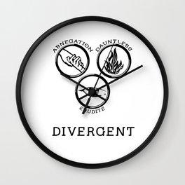 Divergent (Black) Wall Clock