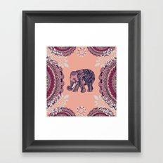 Bohemian Elephant  Framed Art Print