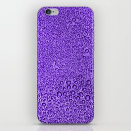 Water Condensation 05 Violet iPhone Skin