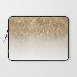 Glamorous Gold Glitter Sequin Ombre Gradient Laptop Sleeve