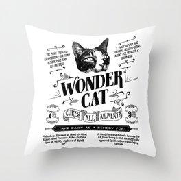 Wonder-cat Throw Pillow